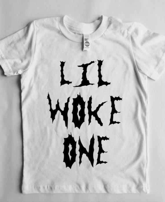 Size 4 custom order lil woke one white tee feminist baby for Single order custom t shirts