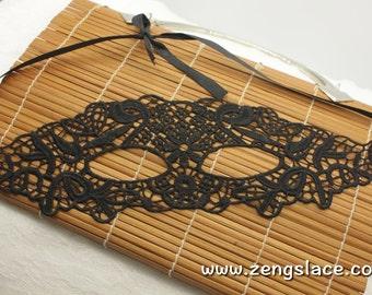 Masquerade Mask Lace, Black Mask, Halloween Mask, Gothic Mask, Venice Mask, Venetian Mask, Party Mask, LM-19-BL