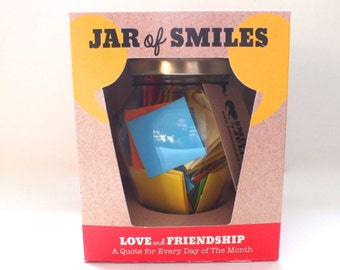 31 'Love & Friendship' Quotations in a Jar. The prefect gift of happy and thoughtful quotations to show someone how much you care.