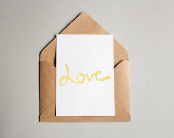 The Golden Love Card --Instant Download