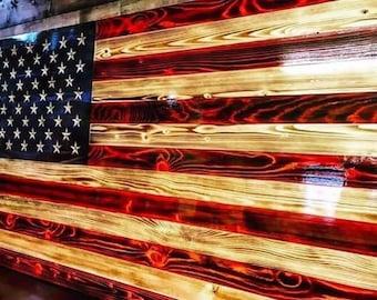 American flag wall art