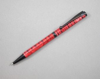 Curly White Ash Slimline Pen             (29)