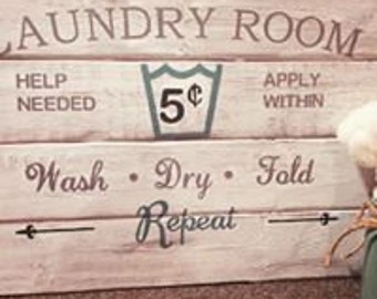 Laundry Room Decor Wooden Sign