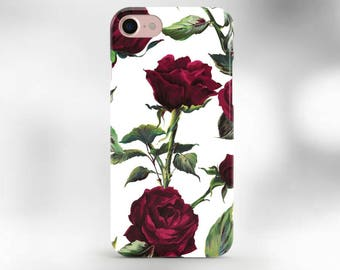 iPhone 6s case Red Roses iphone 7 case rose flowers iphone 6 plus case floral iphone 6 case red roses iphone 7 plus red flowers case cover
