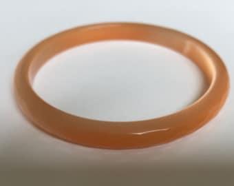 Faceted Glass light reflecting bangle bracelet