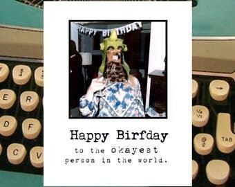 okAyest.  OH Inga birthday card with envelope...