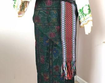 Vintage Ukrainian Skirt Hand Woven Obgortka Plakhta For Vyshyvanka New Condition