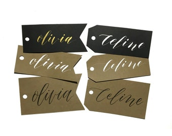 Customized Calligraphy Gift Tags