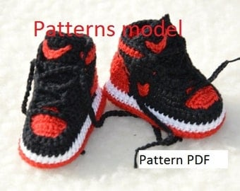 f7da95de2369 ... and CROCHET PATTERN -Nike Air Jordan 1 Crochet Baby Booties pattern ...