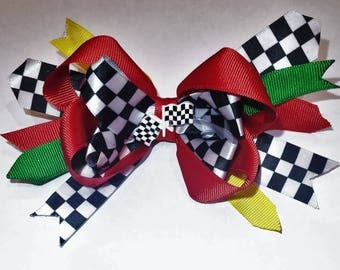 Race Car Hair Bow