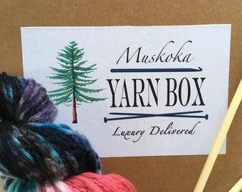 Knit Subscription Box - 3 Month Prepaid - Canada's Yarn Subscription Box