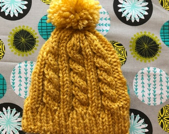 Newborn Cable Knit Hat