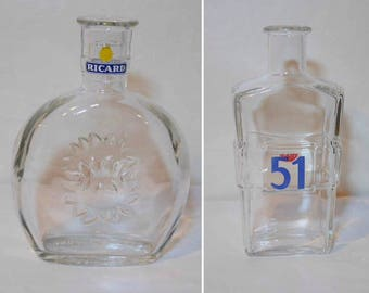Decanters Ricard and Pastis 51, Retro collectibles