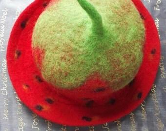 Handmade felt Strawberry Hat