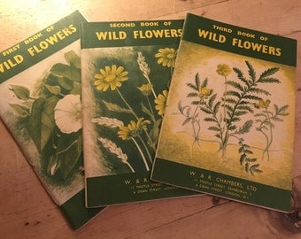 1952 first, second and third book of wild flowers