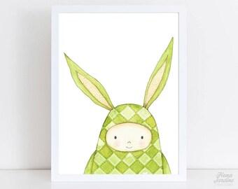 Nursery Rabbit Print / Nursery Decor / Nursery / Kids Room Decor / Wall Art / Rabbit / Nursery Print / Rabbit Print / Nursery Bunny Print