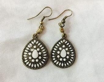 Teardrop Earrings, dangle earrings, boho, Bohemian and Indian style