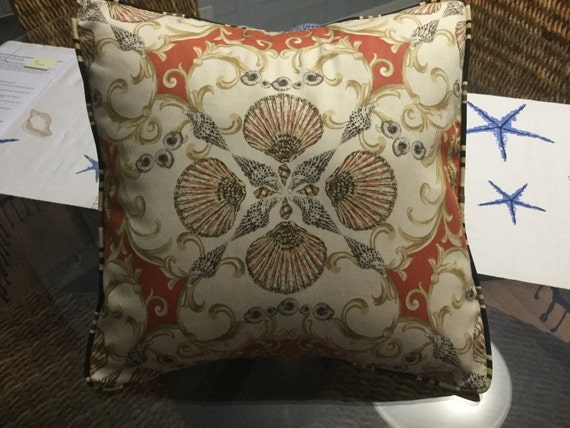 Indoor Pillows Throw Pillows beach Pillows seashell