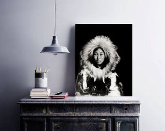 Native American Woman Photo, Eskimo Photograph, Indigenous American, Portrait, Tribal, Alaska, 1907