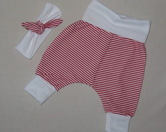 Gorgeous Girls Pirate Pants, 'Giddy Magee' Designer, Handmade, Sizes 0-3,6 and 9 months