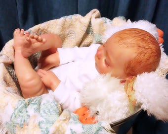 Reborn Baby Heather by Donna RuBert - Painted by T.J. Osborne at Hollow Tree Nursery