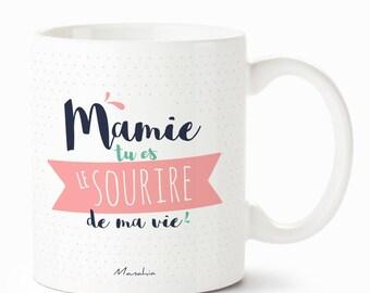 Mug for Grandma grandmother you're the smile of my life, Grandma mug, gift for Grandma, grandmothers party Grandma mug