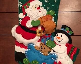 SANTA'S LIST (18 inch Bucilla Felt stocking)