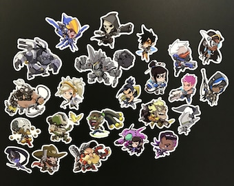 Overwatch Cute Stickers all Heroes [including Orisa]