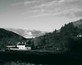 Scottish House, landscapes, natural paysayges, highlands scotland, Scottish landscapes, mountains and nature