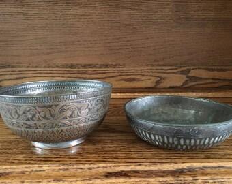 Pair of Antique Persian Bowls