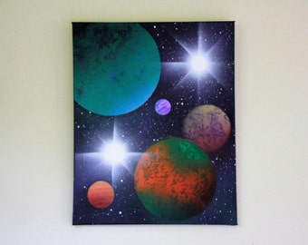 Planetary Wall Art 16x16 in