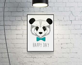 Deco frame - Happy day panda