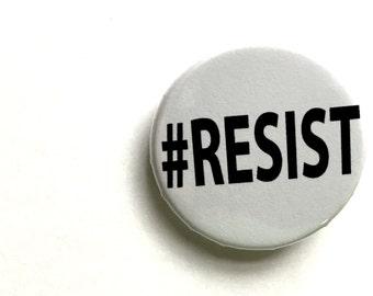 "Resist hashtag button, 1 1/4"""