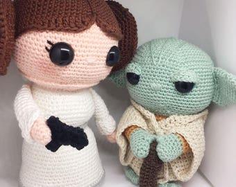 Yoda & Leia discount package Crochet pattern Dutch and English PDF