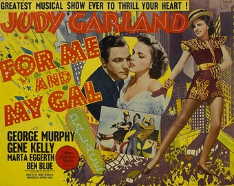 For Me and My Gal - Judy Garland - Gene Kelly - Wall Art - Movie Print - Movie Poster - Movie Art - Lover - 8x10 - 11x14 - 16x20 (JS00280)