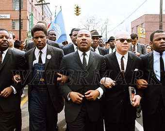 MLK - Martin Luther King - 1965 Selma to Montgomery March - Alabama - Wall Art - Print - Poster - 12x18 - 24x36 (JS00314)