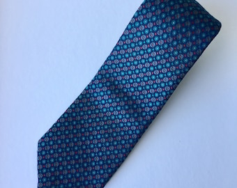 Retro St James Woven Polyester Blue and Red Mens Necktie