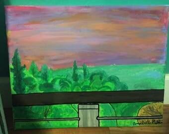 Sunset Balcony Painting