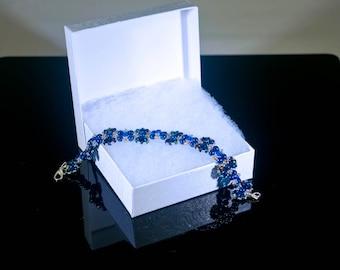 Metallic Blue Butterfly Bracelet