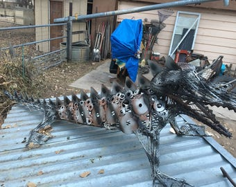 Dragon sculpture handcrafted by New Mexico artist