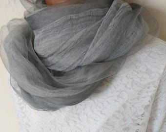 Silk Chiffon Fabric Long Scarf