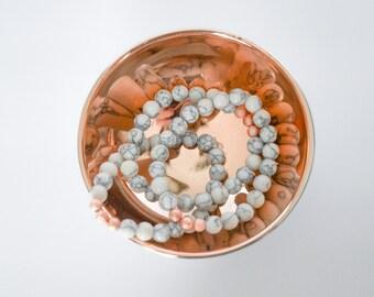 Rose Gold Marble Bracelet Howlite Dainty Dawn Original