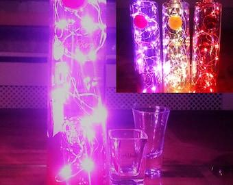 Ciroc Red Berry Vodka Bottle Light. Upcycled Bottle Lamp. Perfect Mood Lighting Gift For Women & Boyfriend Gift For Men. Upcycled Lighting