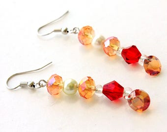 Fire and Amber Earrings