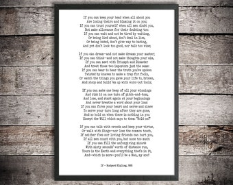 "Printable poster | ""If"" poem by Rudyard Kipling 