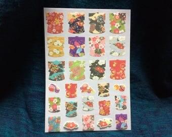 japanese kimono shape stickers traditional japanese design