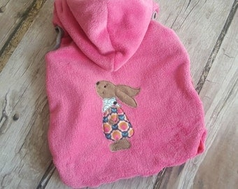 Rabbits vest pink reversible vest hooded 74/80-134 / 140 * 2 *.