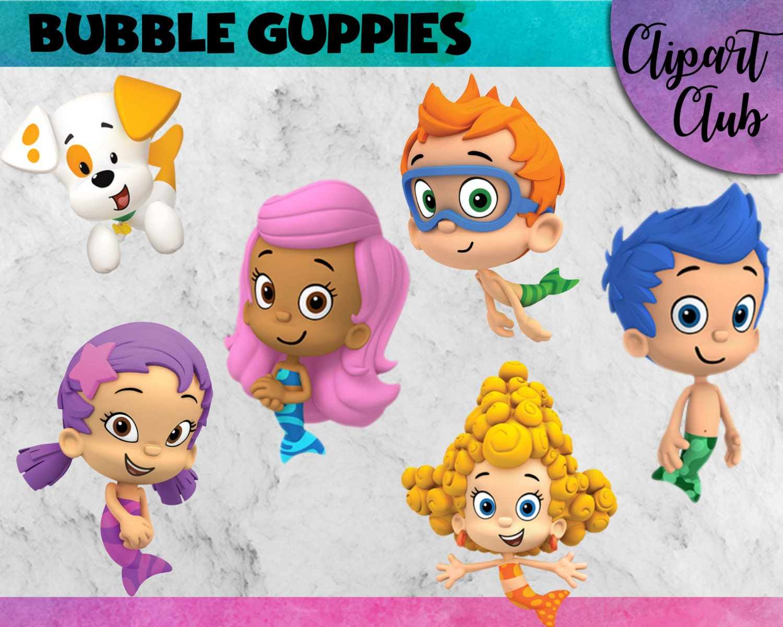 bubble guppies clipart 22 png u0027s 300 dpi instant digital download