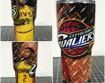 Cleveland Cavs Cavaliers  Custom Yeti 20 30 RTIC Cup Fully Wrapped