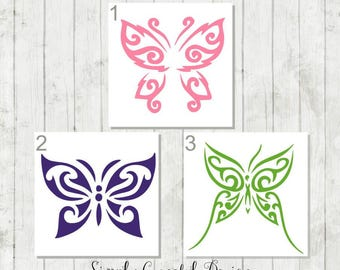 Butterfly Vinyl Decal - Butterfly Car Decal - Butterfly Sticker - Butterfly Laptop Decal - Gift for Nature Lovers - Butterfly Girly Decals
